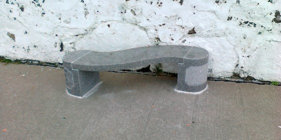Marble benches at the Lighthouse