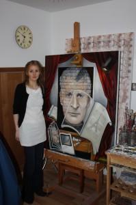 Artist in profile Nicola