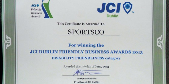 SPORTSCO Wins Friendliest Business Award