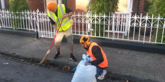 Local Sikhs Clean Up Sandymount