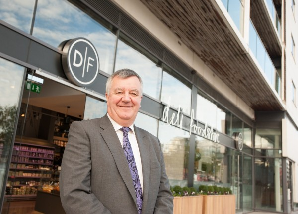 Pictured, Joe Doyle, owner of Donnybrook Fair at the new store on Grand Canal Square
