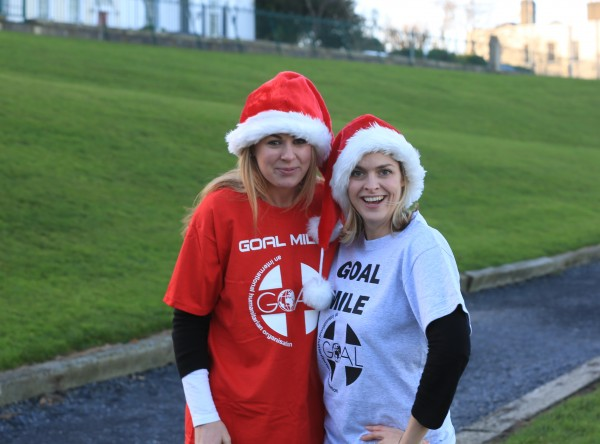 Barbara Flynn (left) and Courtenay Pollard (right) at the launch of the GOAL Mile.