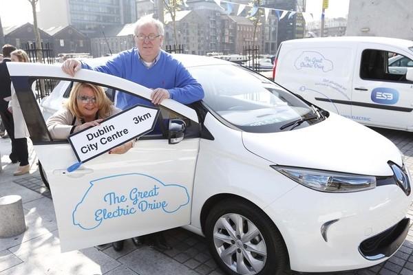 Dublin ecar ambassador Ed Sadlier with his wife Betty.