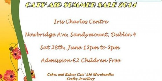 Cats' Aid Summer Sale