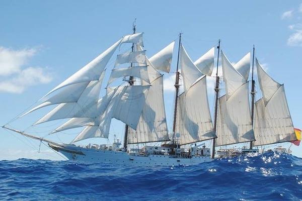 The Juan Sebastián De Elcano Pic: Dublin Port Company