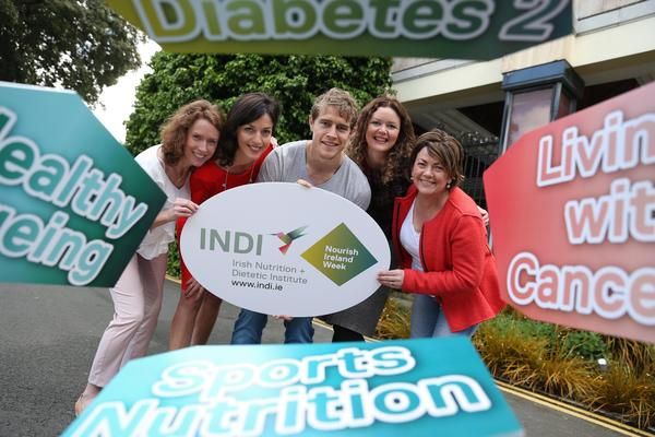 Andrew Trimble launches Nourish Ireland Week Picture: INDI