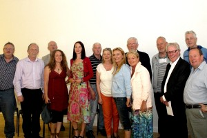 Community members present on the night welcome Jackie Redpath. Pic: Ross Waldron of NewsFour