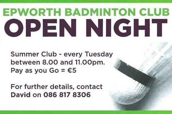 Pic: Epworth Badminton Club