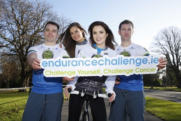 Athletes James Colbert and Sean Buckley with Top models Roz Purcell and Holly Carpenter. Pic: Sasko Lazarov/Photocall Ireland