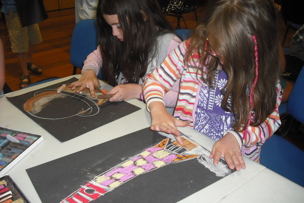 Sisters Lucy and Megan Lloyd, ages 8 and 12, enjoying an event at the NLI last summer. Pic: NLI