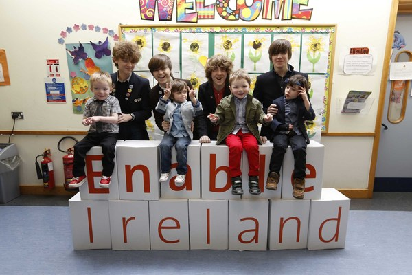 The Strypes at Enable Ireland. Pic: Enable Ireland
