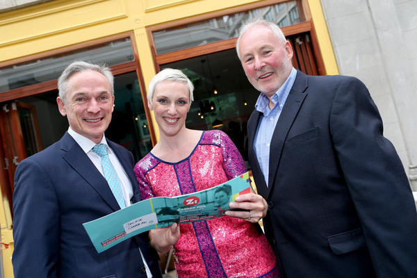 Minister Richard Bruton, Jackie Slattery, Director of Career Zoo, and David Dempsey, Executive Director and Senior Vice President of Salesforce.com Pic: Maxwell's