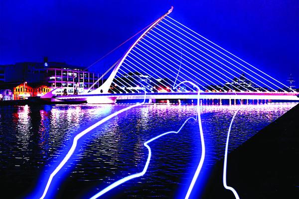 Samuel Beckett Bridge will come alive this Saturday Pic: Ciara Corrigan