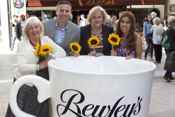Pictured at the launch of Ireland's Biggest Coffee Morning were Veronica Campbell, Bewley's; Mark Saunders Bewley's Brand Director; Angela Kavanagh, Our Lady's Hospice and Lottie Ryan. On Thursday 18th September, people all over the country are being asked to enjoy a Bewley's #coffee4hospice - and to raise much needed funds for their local hospice service at the same time. Pic: Shane O'Neill / Copyright Fennell Photography 2014