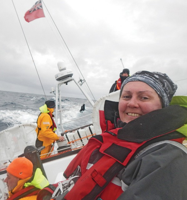 Clipper - Clodagh on the Southern Ocean