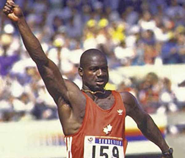 Disgraced athlete Ben Johnson.