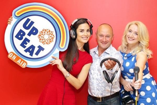 Model Alison Canavan, comedian Alan Shortt and presenter Theresa Lowe are all on Upbeat On Air's team of guest DJs. Pic: Marc O'Sullivan
