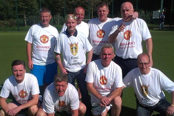 "Friends and family of Paul ""Behaner"" Behan, who took part in a five-a-side tournament fundraiser in September. Pic: Michael Behan"