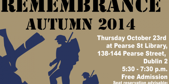 Remembrance 2014 in Pearse Street Library