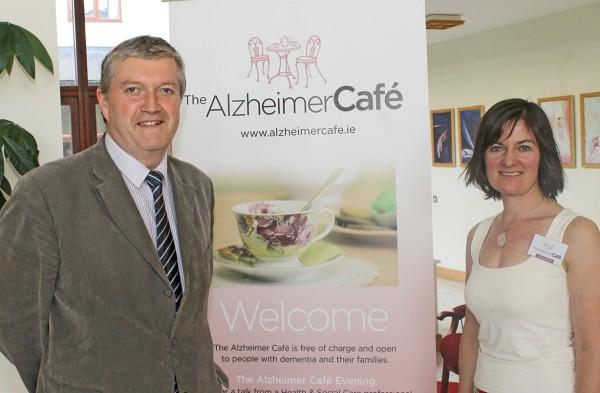 Dr Diarmuid O'Shea and organiser Sinead Grennan.