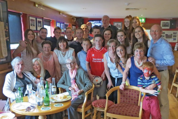 Lil Byrne was 90 on Sat 14th June 2014 and had a celebration party with all her family and friends.