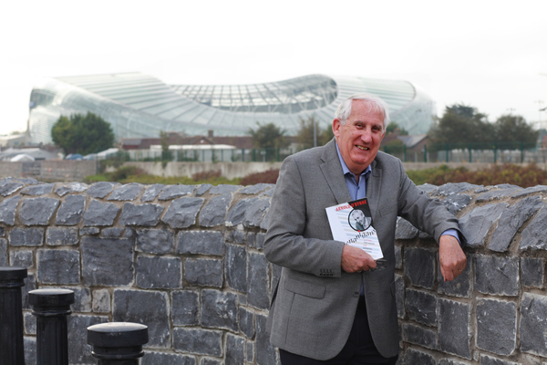 Arnold O'Byrne with his new book Shenanigans: Lifting the Hood on General Motors. Pic: NewsFour's Maria Shields O'Kelly