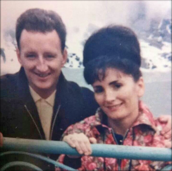 Tony and Maureen Byrne at Niagara Falls, Ontario, Canada in the 1960s. The photograph was sent in by their beloved daughter Dolores.