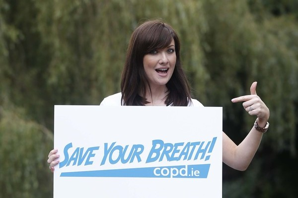 "Jennifer Maguire, pictured lending her support to the ""Save Your Breath"" national COPD awareness campaign by COPD Support Ireland.  Pic: Robbie Reynolds"