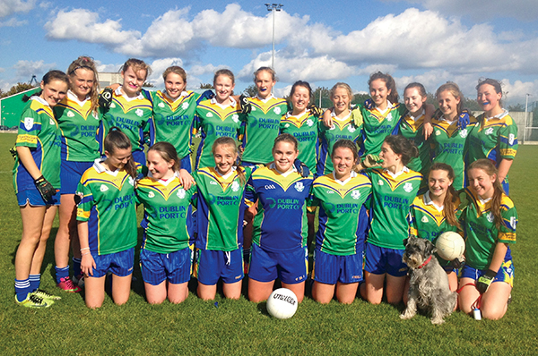 Pictured: Clanns U-13 girls' footballers who won the Division 2 championship – doing so in some style.
