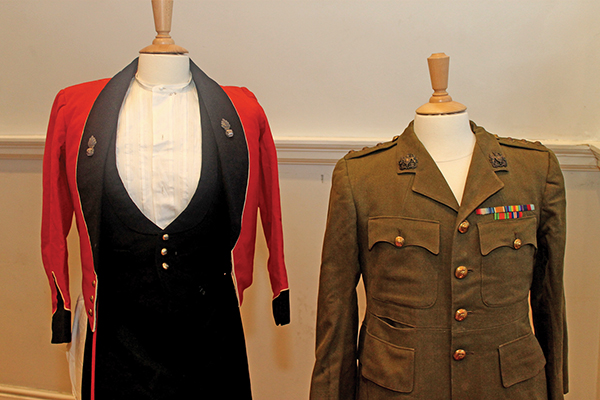Uniforms from World War 1.