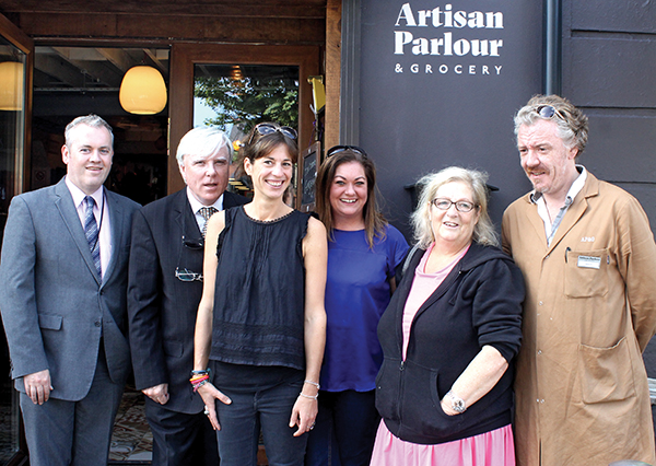 From left to right: Padraig Gallagher, Francis Brennan, Venetia Quick, Tara Duggan, Eileen Brophy and Martin Thomas.