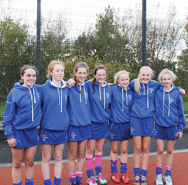Seven girls from Railway Union Hockey Club who were members of the LeinsterUnder-16 Hockey team who were victorious in the recent Interprovincial Championship played at Hillsborough, Co. Down.