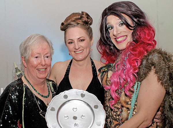 Annie Byrne, overall winner of the Bingo, is pictured with Karen and Shirley.