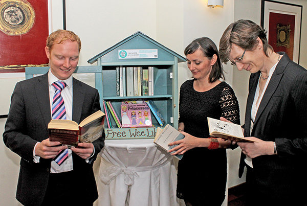 Pictured, from left: Gerard Loughran, Geraldine Timlin and Ruth Cooper.