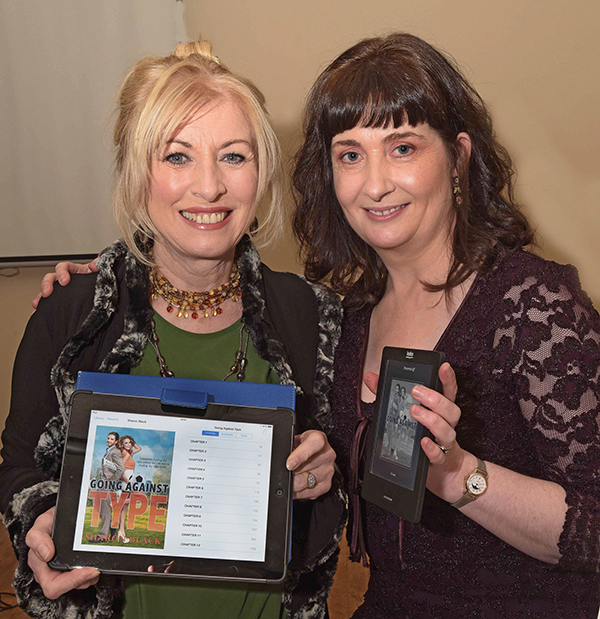 Author Sharon Black (right) Pictured with Singer Honor Heffernan.