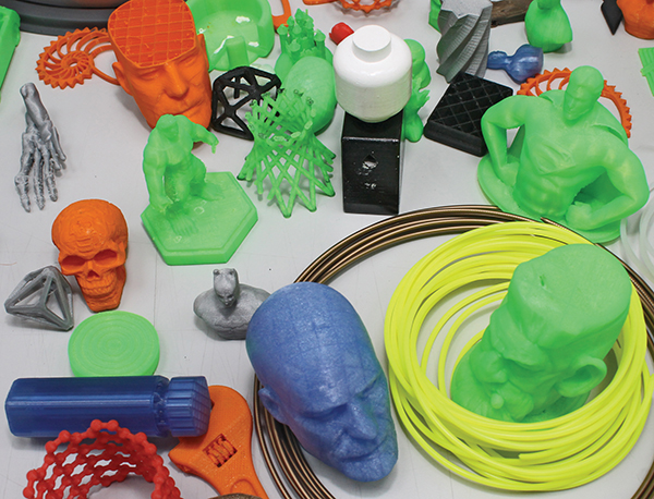 Pictured: Some items produced from 3D printers.