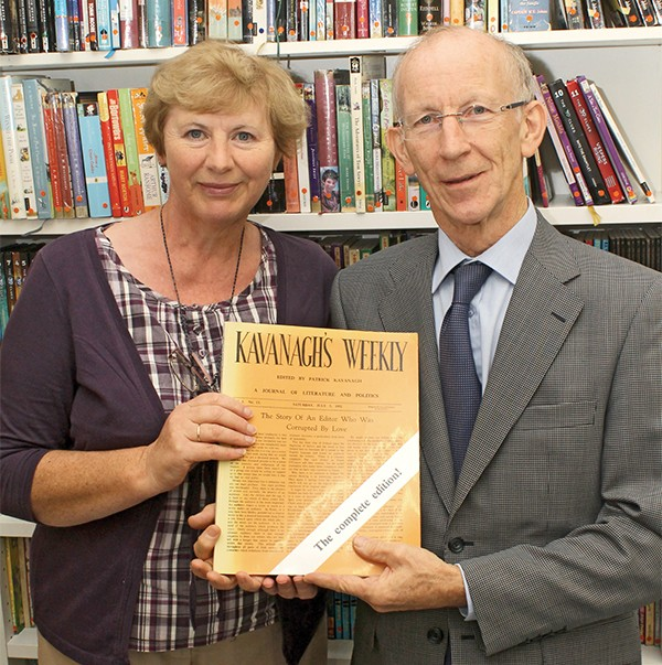 Pictured: Liz Turley of Pembroke Library and Kavanagh enthusiast Peter McDonnell.