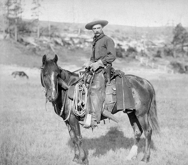 Above: An American cowboy photographed circa 1888.
