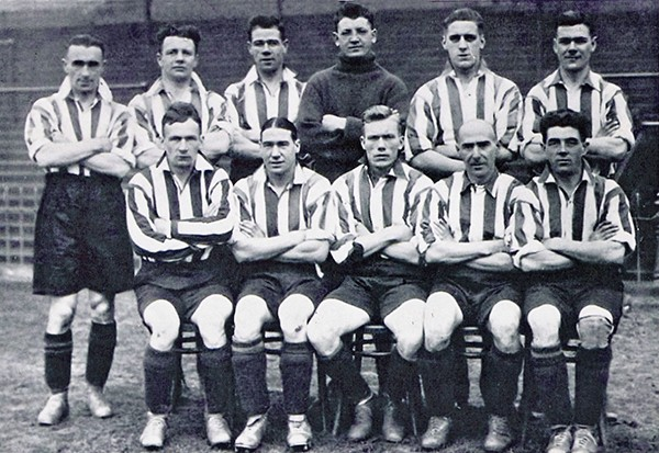 Pictured above: Jimmy Dunne, front row, centre, in his Sheffield Utd days.