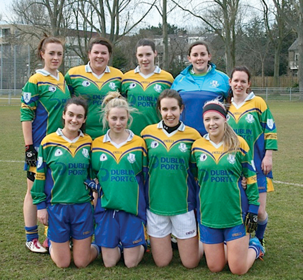 Above: The Clanna Gael Fontenoy Junior Ladies team which finished third overall in an international tournament in The Hague, Netherlands.