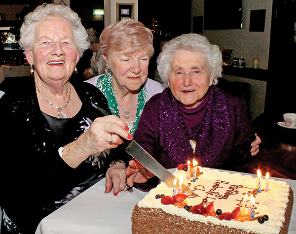 Pictured Above: Pembroke Ladies' club came to an end after 43 years and celebrated the occasion with a party at The Bath Pub on March 23rd. The ladies above are Maureen Siggins, Mary Dent and Phyllis Hulgraine.