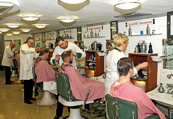 Pictured: The Waldorf Barbershop on Westmoreland Street.