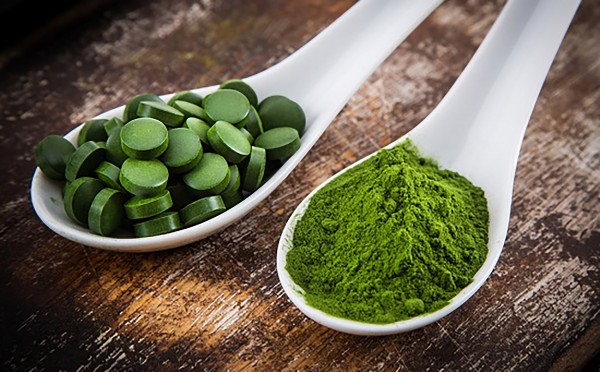 Pictured: Spirulina in tablet and powder form (stock image).