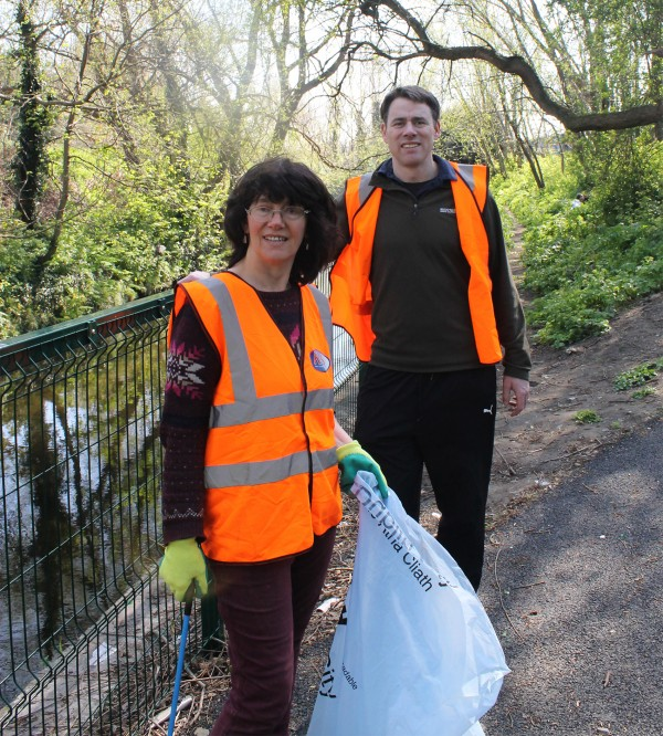 Pictured: Victoria White and John Lacey organisers of the Dodder Action Day.