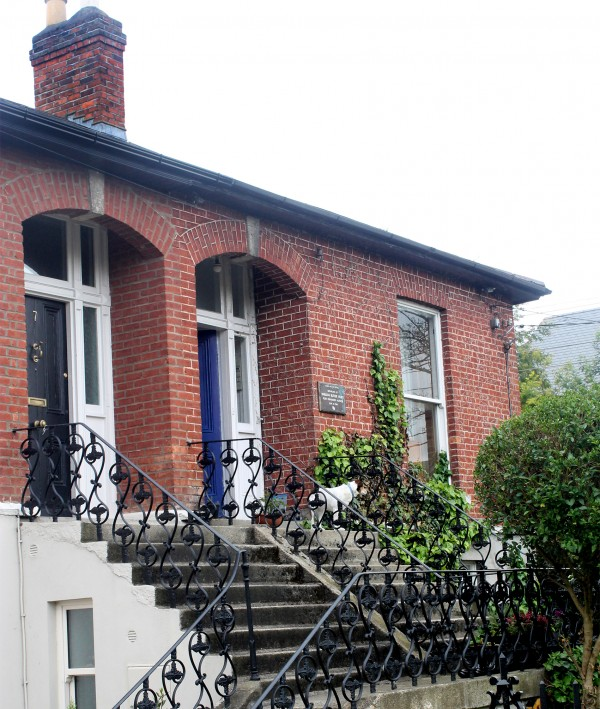 Pictured: Yeats's former home at 5 Sandymount Avenue.