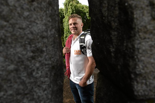 Irish Rugby star Ian Madigan at the launch of Caps to the Summit 2015. Pic: David Maher