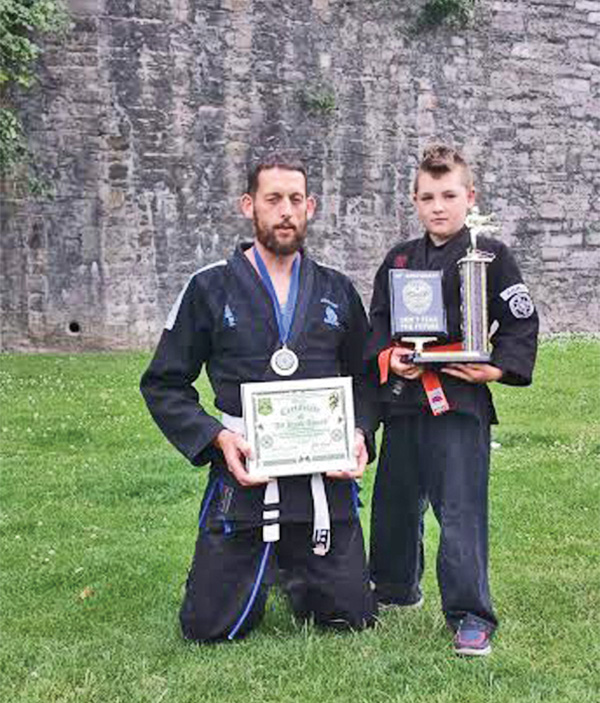 Pictured: Kenpo champions John Mullen and Christopher Scully. Image courtesy of Paul Coleman.