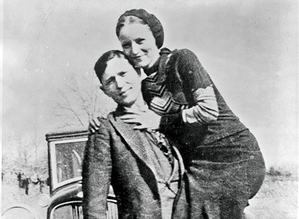 Pictured Above: Bonnie and Clyde at large.