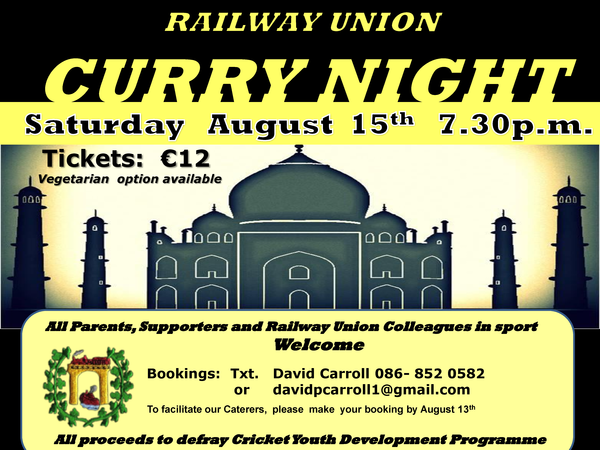 Railway Union Curry Night