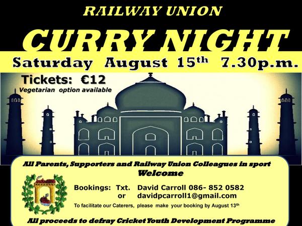Railway Union Curry Night